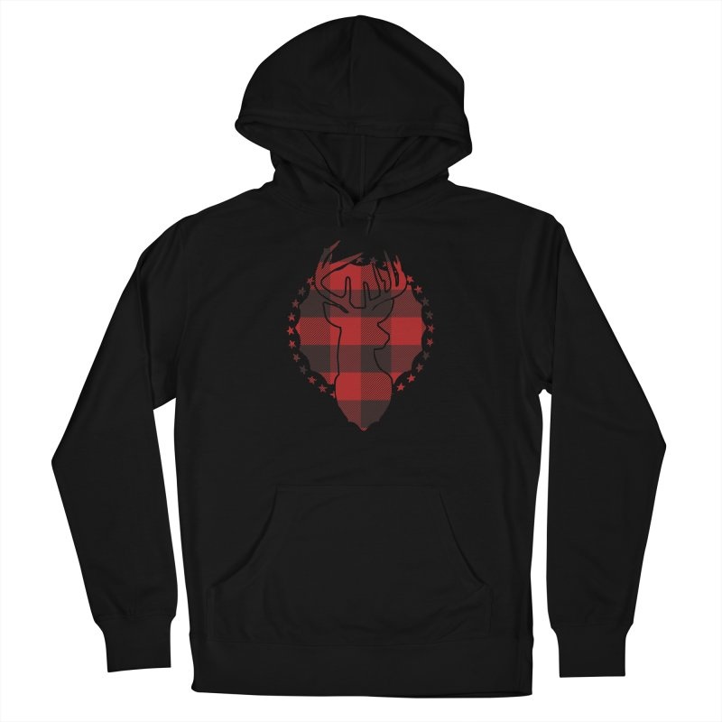 Plaid Deer Men's Pullover Hoody by EngineHouse13's Artist Shop