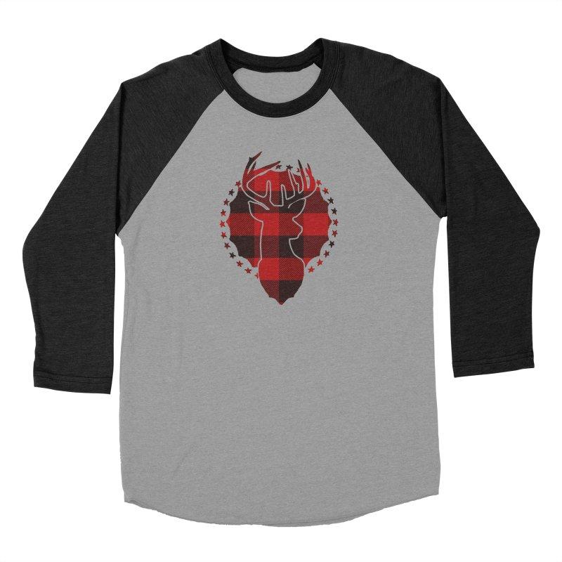 Plaid Deer Men's Baseball Triblend Longsleeve T-Shirt by EngineHouse13's Artist Shop