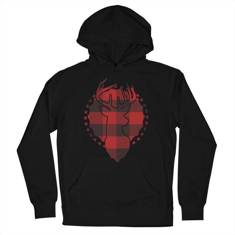 Plaid Deer Men's French Terry Pullover Hoody by EngineHouse13's Artist Shop