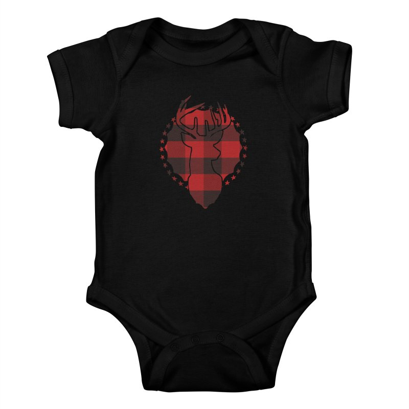 Plaid Deer Kids Baby Bodysuit by EngineHouse13's Artist Shop