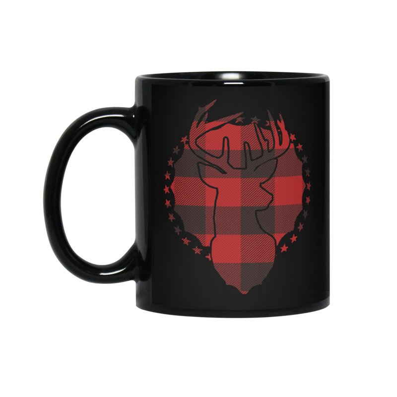Plaid Deer Accessories Mug by EngineHouse13's Artist Shop