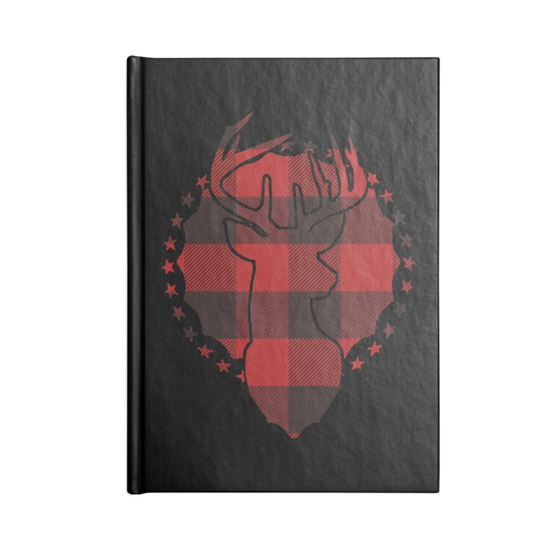 Plaid Deer Accessories Lined Journal Notebook by EngineHouse13's Artist Shop