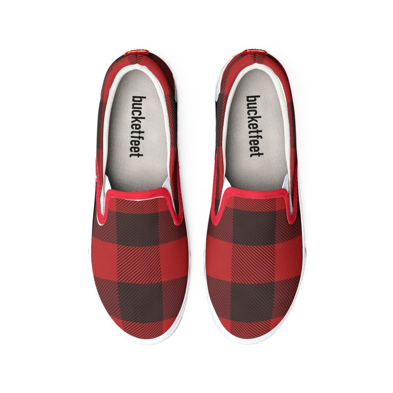 Plaid Deer Women's Shoes by EngineHouse13's Artist Shop