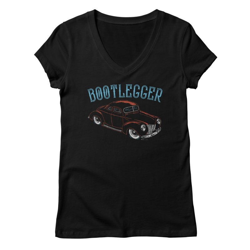 Bootlegger Women's V-Neck by EngineHouse13's Artist Shop