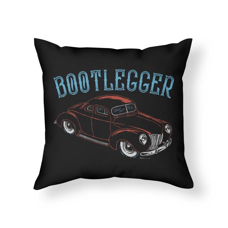Bootlegger Home Throw Pillow by EngineHouse13's Artist Shop