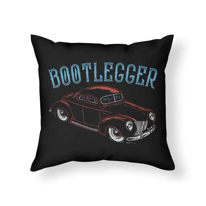 Bootlegger Home Throw Pillow by EngineHouse13's Artist Shop