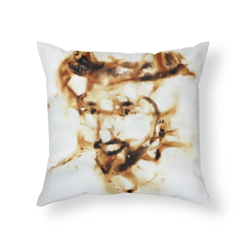 'Fazza' Fire reflection on paper by Igor Josifov Home Throw Pillow by Equity International - Arts & Culture's Artist Sho