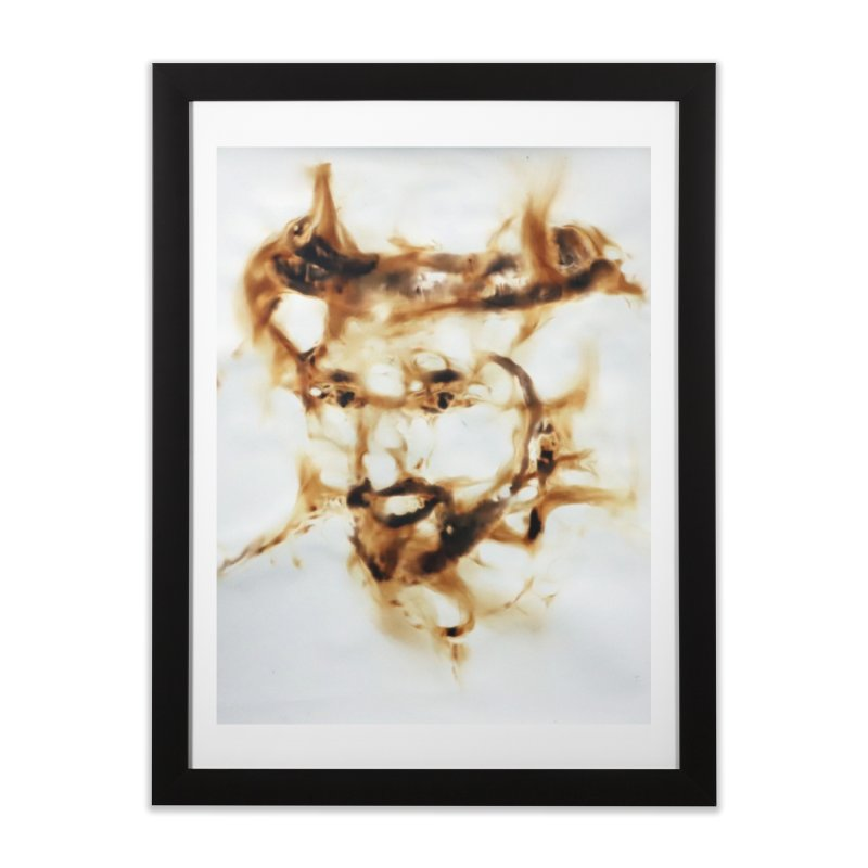 'Fazza' Fire reflection on paper by Igor Josifov Home Framed Fine Art Print by Equity International - Arts & Culture's Artist Sho