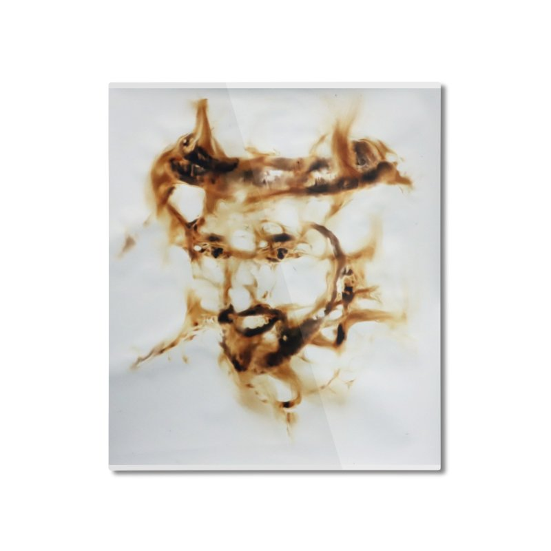 'Fazza' Fire reflection on paper by Igor Josifov Home Mounted Aluminum Print by Equity International - Arts & Culture's Artist Sho