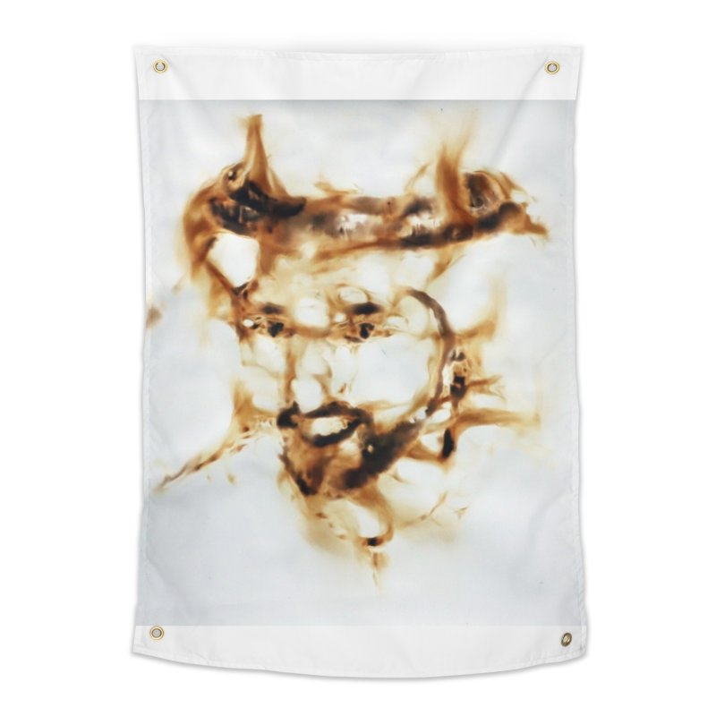 'Fazza' Fire reflection on paper by Igor Josifov Home Tapestry by Equity International - Arts & Culture's Artist Sho