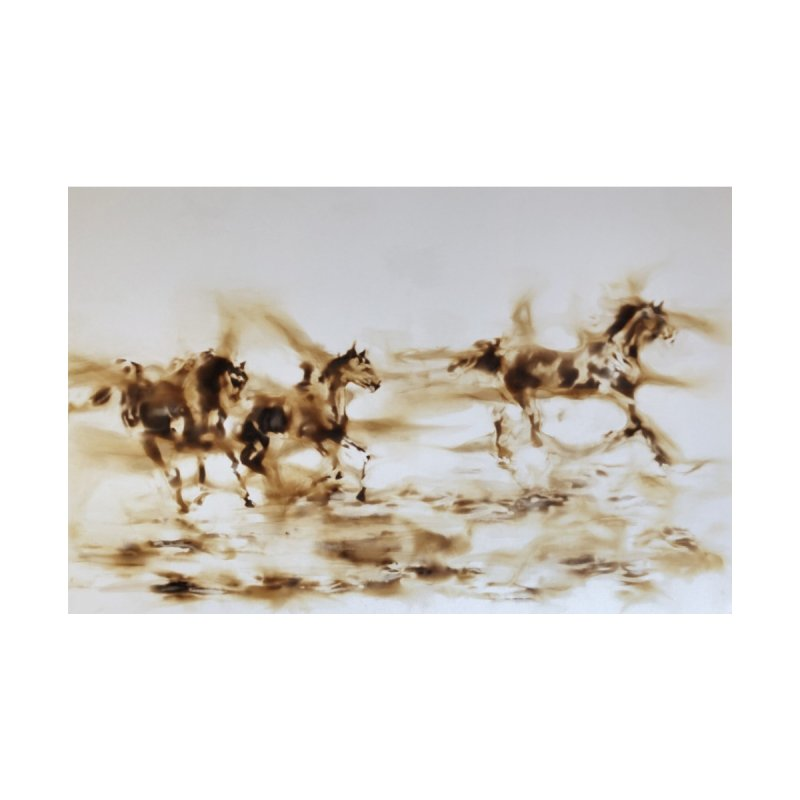 Racing Away - Horses Home Fine Art Print by Equity International - Arts & Culture's Artist Sho