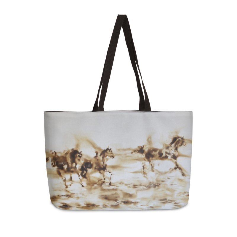 Racing Away - Horses Accessories Bag by Equity International - Arts & Culture's Artist Sho