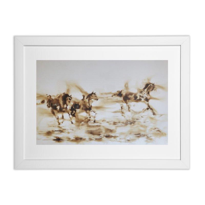 Racing Away - Horses Home Framed Fine Art Print by Equity International - Arts & Culture's Artist Sho