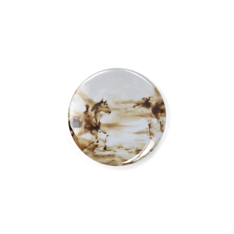 Racing Away - Horses Accessories Button by Equity International - Arts & Culture's Artist Sho