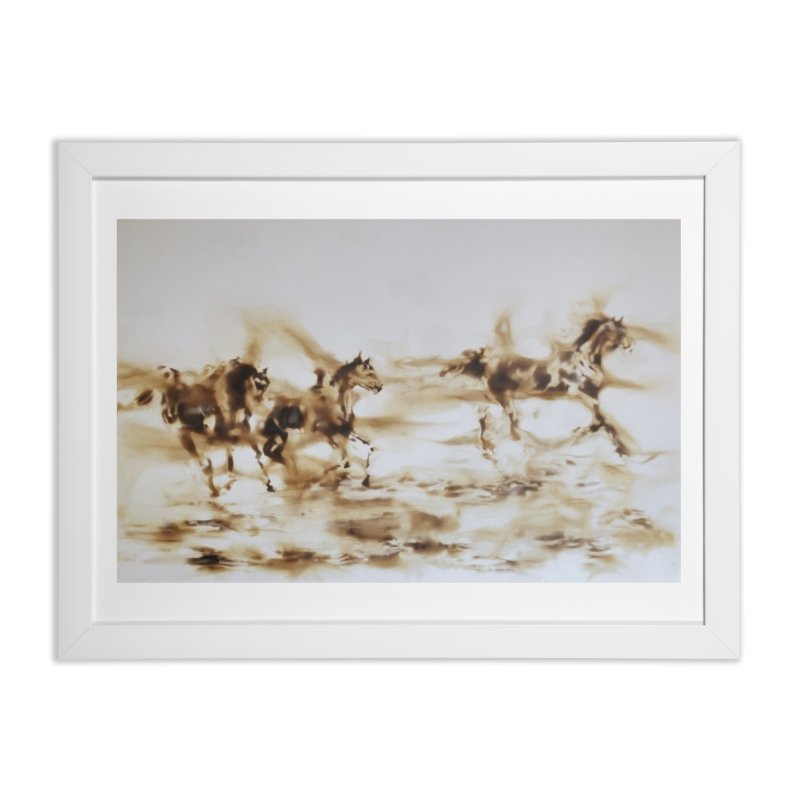 Racing Away - Horses Home Framed Fine Art Print by Equity International - Arts & Culture's Artist Sho