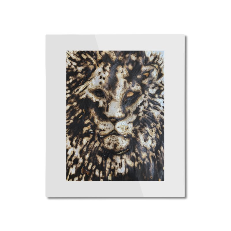 Lion - Igor Josifov Home Mounted Aluminum Print by Equity International - Arts & Culture's Artist Sho