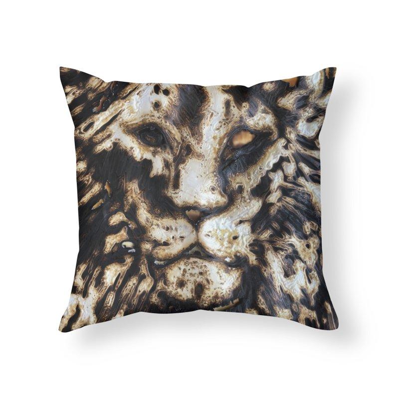 Lion - Igor Josifov Home Throw Pillow by Equity International - Arts & Culture's Artist Sho