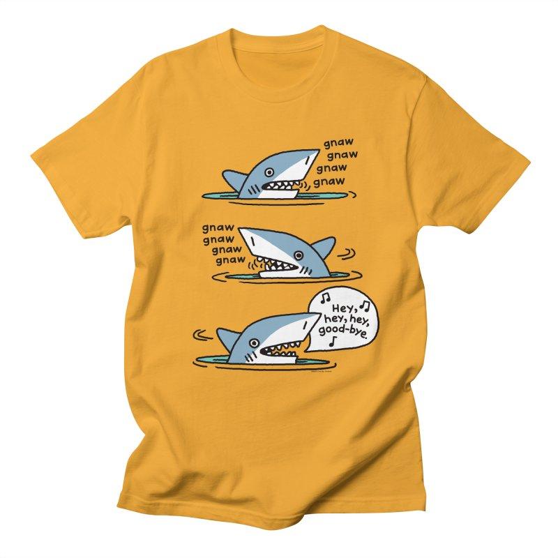 gnaw gnaw shark Men's Regular T-Shirt by EricScott's Artist Shop