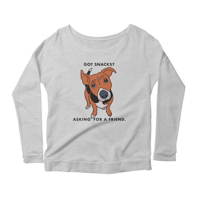 Harriet-GOT SNACKS? Women's Scoop Neck Longsleeve T-Shirt by EricScott's Artist Shop