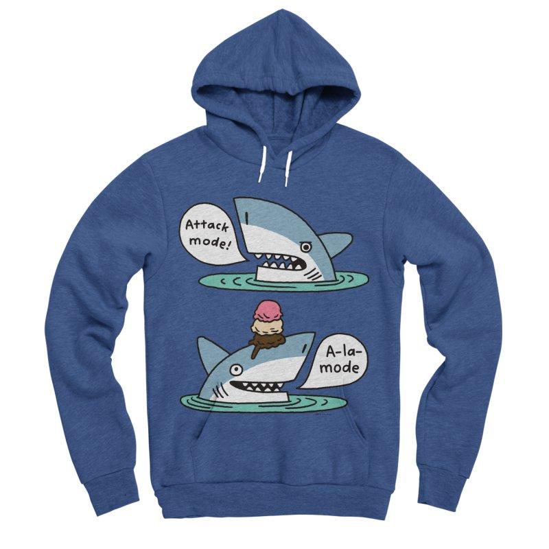 Al-A-Mode shark Women's Sponge Fleece Pullover Hoody by EricScott's Artist Shop