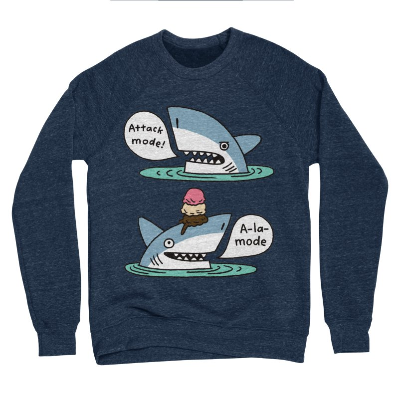 Al-A-Mode shark Men's Sponge Fleece Sweatshirt by EricScott's Artist Shop
