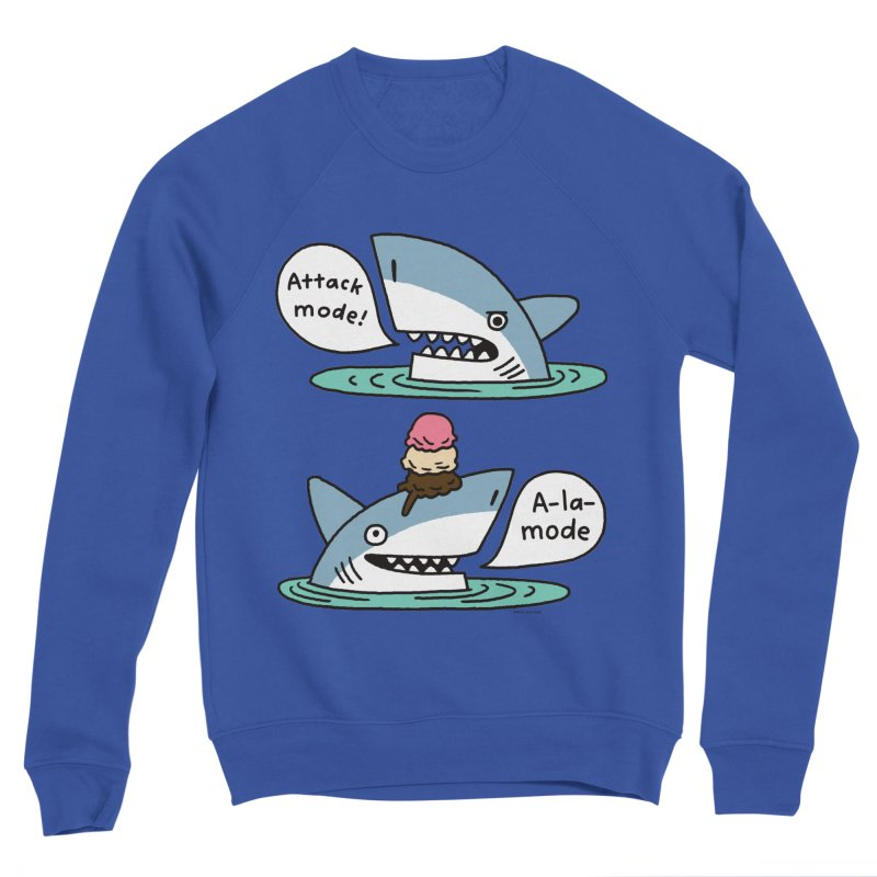 Al-A-Mode shark Men's Sweatshirt by EricScott's Artist Shop