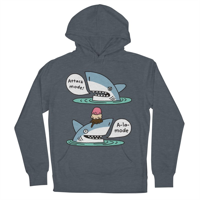 Al-A-Mode shark Women's French Terry Pullover Hoody by EricScott's Artist Shop