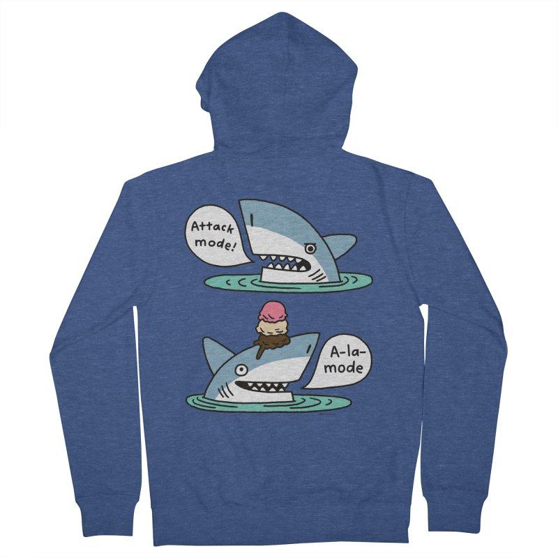 Al-A-Mode shark Men's Zip-Up Hoody by EricScott's Artist Shop
