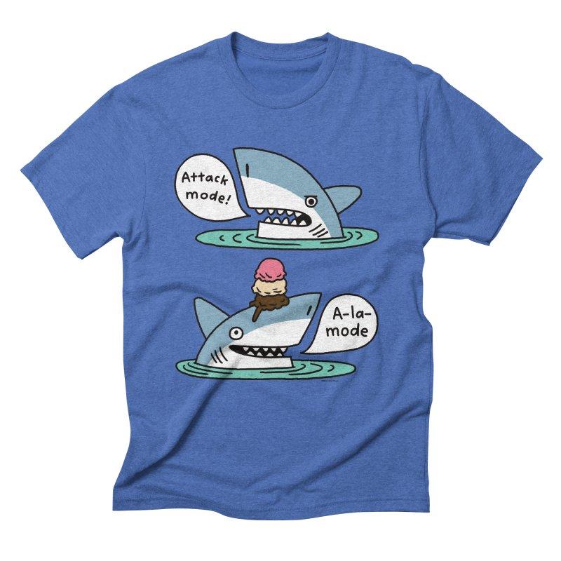 Al-A-Mode shark Men's Triblend T-Shirt by EricScott's Artist Shop