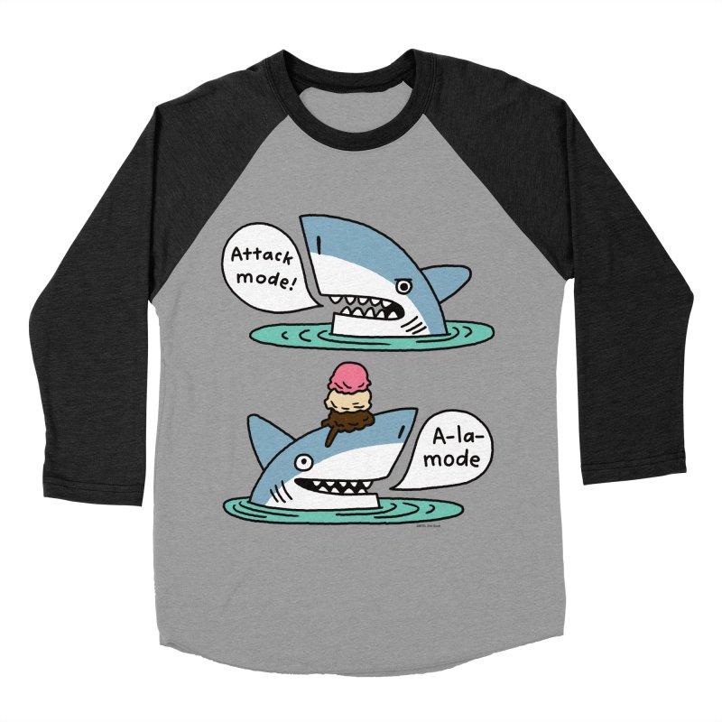 Al-A-Mode shark Women's Baseball Triblend Longsleeve T-Shirt by EricScott's Artist Shop