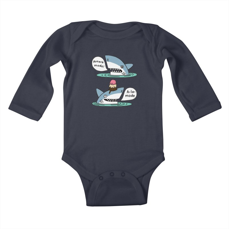 Al-A-Mode shark Kids Baby Longsleeve Bodysuit by EricScott's Artist Shop