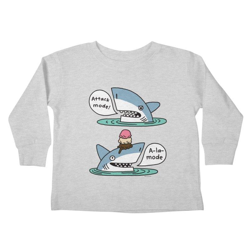 Al-A-Mode shark Kids Toddler Longsleeve T-Shirt by EricScott's Artist Shop