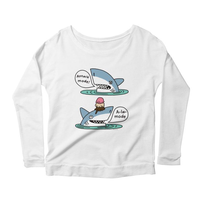 Al-A-Mode shark Women's Scoop Neck Longsleeve T-Shirt by EricScott's Artist Shop