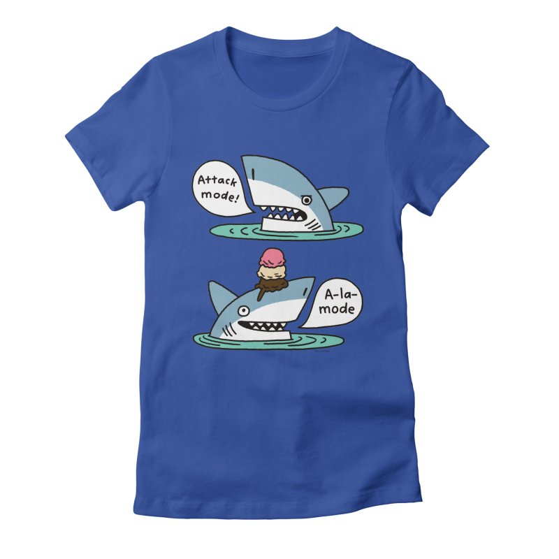 Al-A-Mode shark Women's Fitted T-Shirt by EricScott's Artist Shop