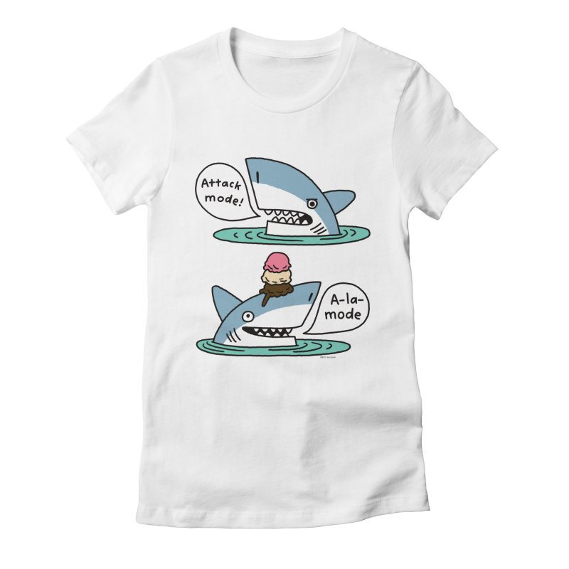 Al-A-Mode shark Women's T-Shirt by EricScott's Artist Shop
