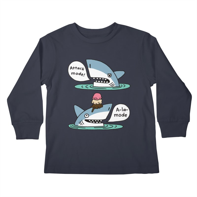 Al-A-Mode shark Kids Longsleeve T-Shirt by EricScott's Artist Shop