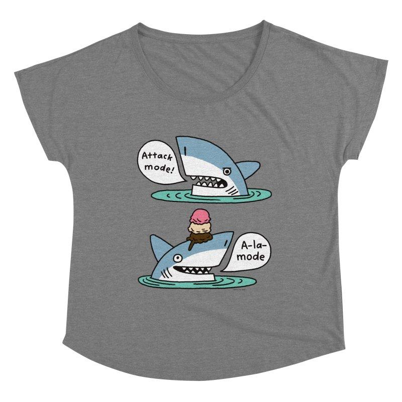 Al-A-Mode shark Women's Scoop Neck by EricScott's Artist Shop