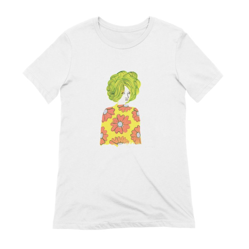 Painted Lady 31 in Women's Extra Soft T-Shirt White by Erika Rier Art