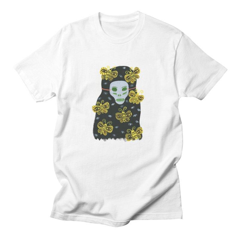 Painted Lady 56 in Women's Regular Unisex T-Shirt White by Erika Rier Art