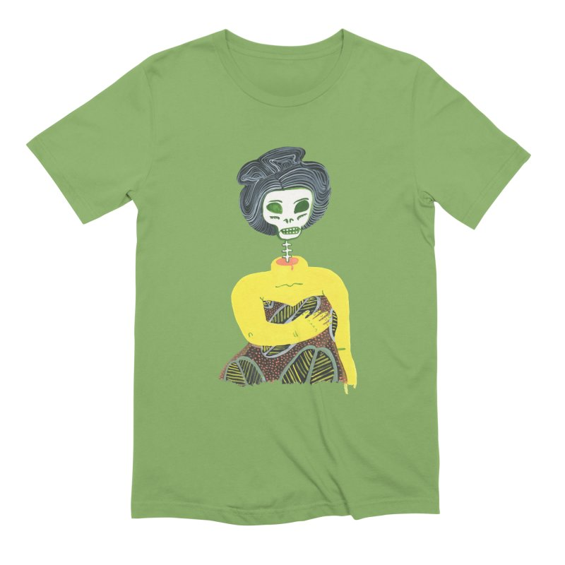 Painted Lady 57 in Men's Extra Soft T-Shirt Avocado by Erika Rier Art