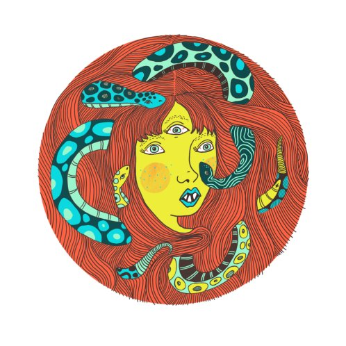 Design for Snakes in Her Hair