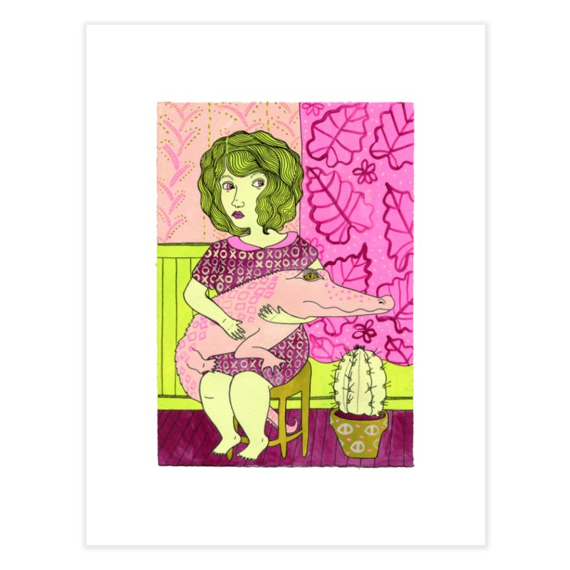 Roomates Home Fine Art Print by Erika Rier Art