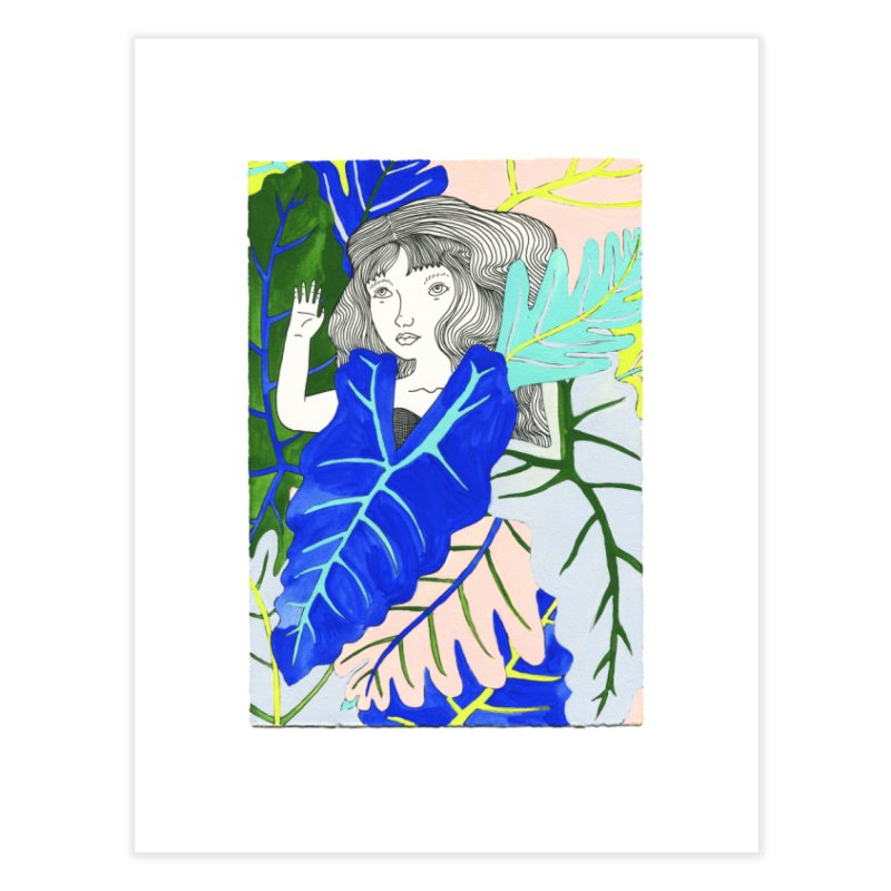Leaf Meditation Home Fine Art Print by Erika Rier Art