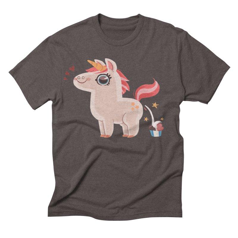 Neapolitan Unicorn Men's Triblend T-shirt by ErinHunting's Artist Shop