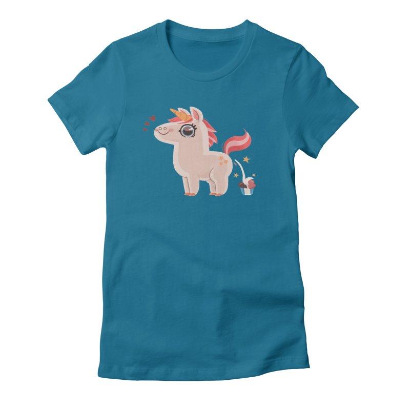 Neapolitan Unicorn Women's Fitted T-Shirt by ErinHunting's Artist Shop