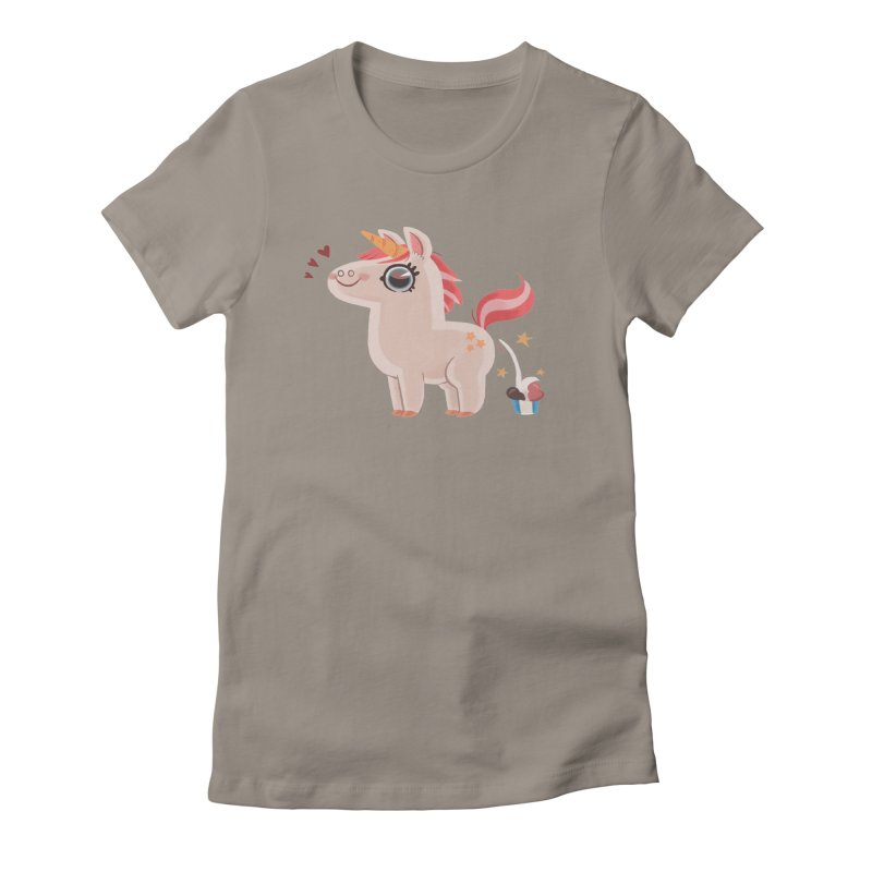 Neapolitan Unicorn Women's Fitted T-Shirt by ErinHunting's Artist Shop