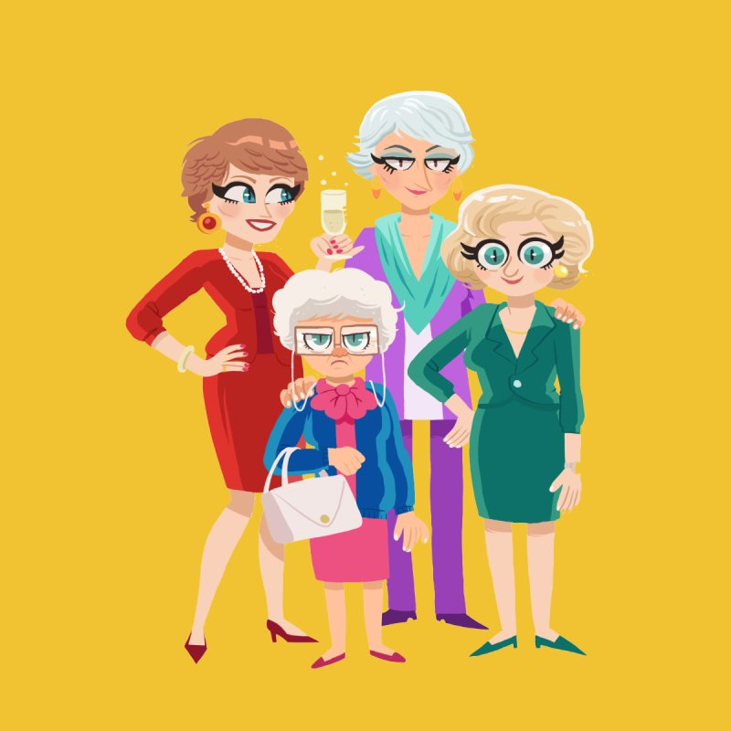 Golden Girls None  by ErinHunting's Artist Shop