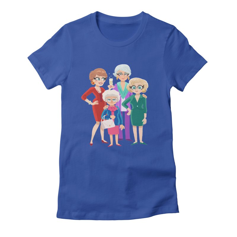 Golden Girls Women's Fitted T-Shirt by ErinHunting's Artist Shop