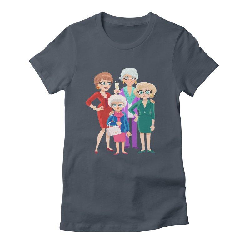 Golden Girls Women's Fitted T-Shirt by ErinHunting's Artist Shop