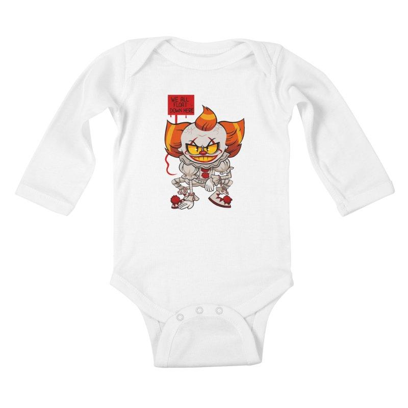 Pennywise Kids Baby Longsleeve Bodysuit by ErinHunting's Artist Shop